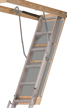 Louisville Ladder 22 5x63 Aluminum Attic Ladder 350 Pound Load Capacity Al228p Louisville Ladder