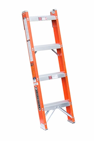 0 thumbnail image for Louisville Ladder 4-Foot Fiberglass Shelf Ladder, Type IA, 300-pound Load Capacity, FH1004