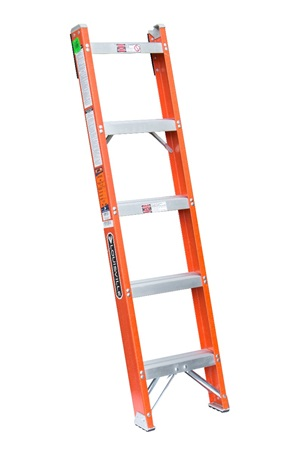 0 thumbnail image for Louisville Ladder 5-Foot Fiberglass Shelf Ladder, Type IA, 300-pound Load Capacity, FH1005