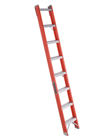 0 thumbnail image for Louisville Ladder 8-Foot Fiberglass Shelf Ladder, Type IA, 300-pound Load Capacity, FH1008