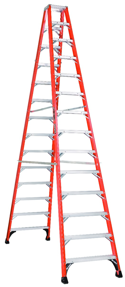 Louisville Ladder 14 Foot Fiberglass Step Ladder Type Iaa