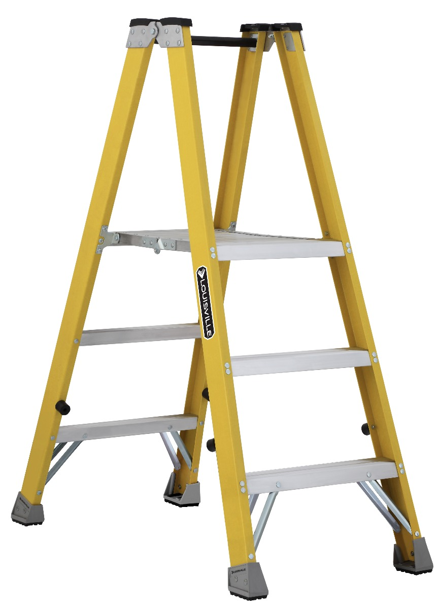 Louisville Ladder 3 Foot Fiberglass Twin Front Step Ladder