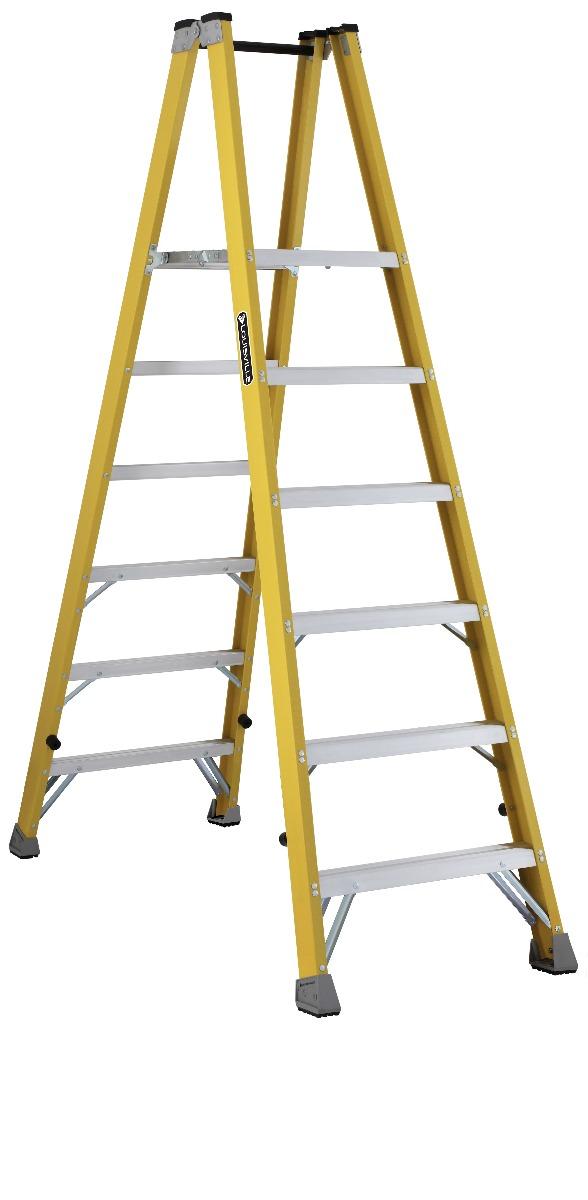 Louisville Ladder 6 Foot Fiberglass Twin Front Step Ladder