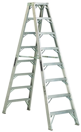 0 thumbnail image for Louisville Ladder 8-Foot Aluminum Twin Front Step Ladder, Type IAA, 375-pound Load Capacity, AM1108H…