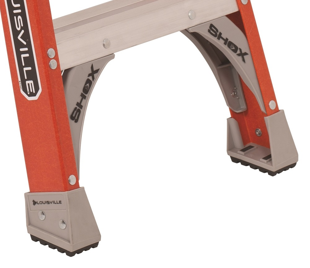 Louisville Ladder 7 Foot Fiberglass Twin Front Twin Step