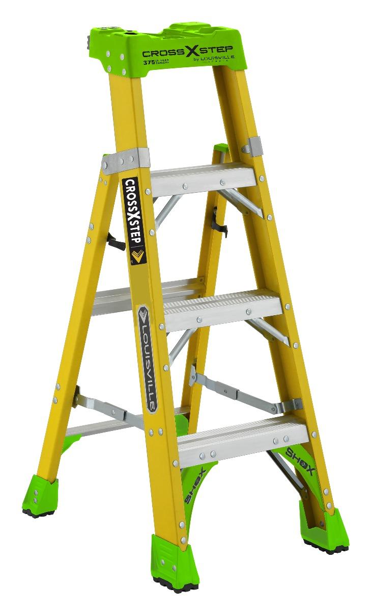 Louisville Ladder 4 Foot Fiberglass Cross Step Ladder