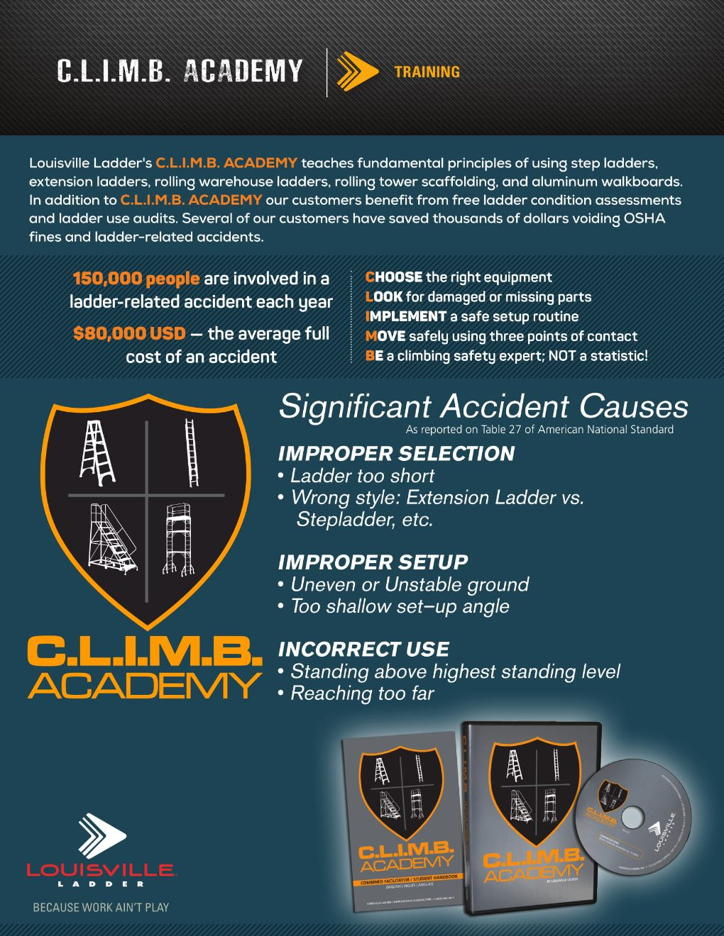 C.L.I.M.B. Academy Flyer Marketing Material Image