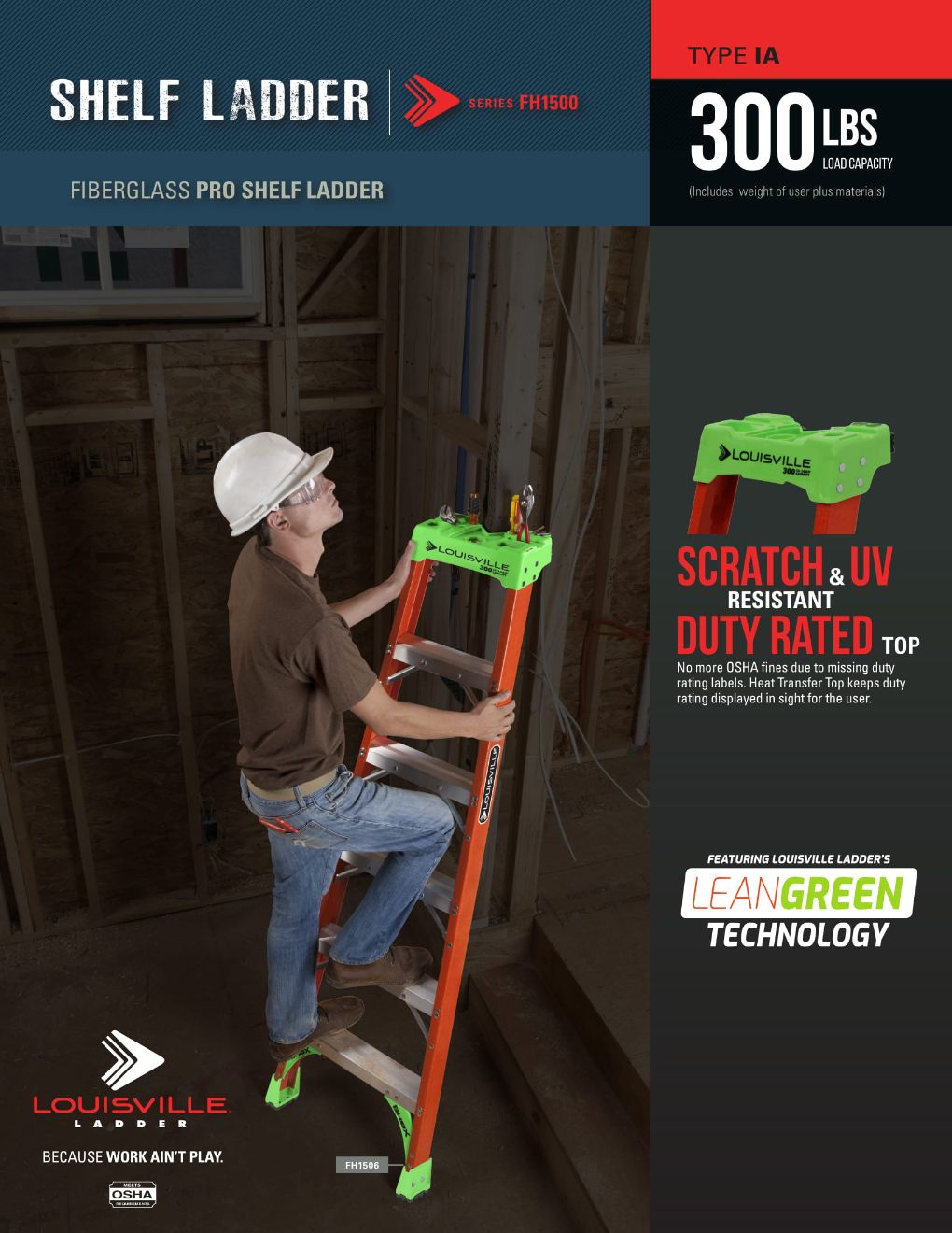 FH1500 Single Ladder Flyer and Spec Sheet Marketing Material Image