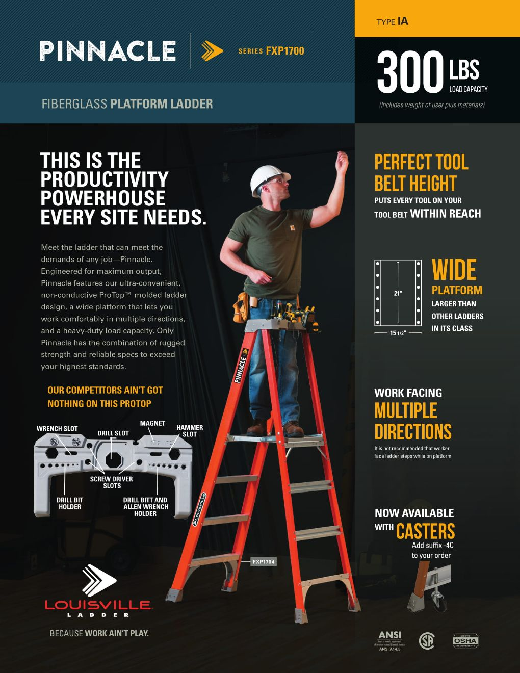 FXP1700 Pinnacle Ladder Flyer and Spec Sheet Marketing Material Image