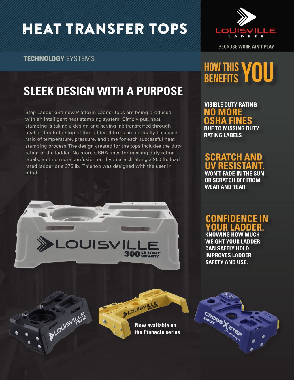 Heat Transfer Tops Flyer and Spec Sheet Marketing Material Image