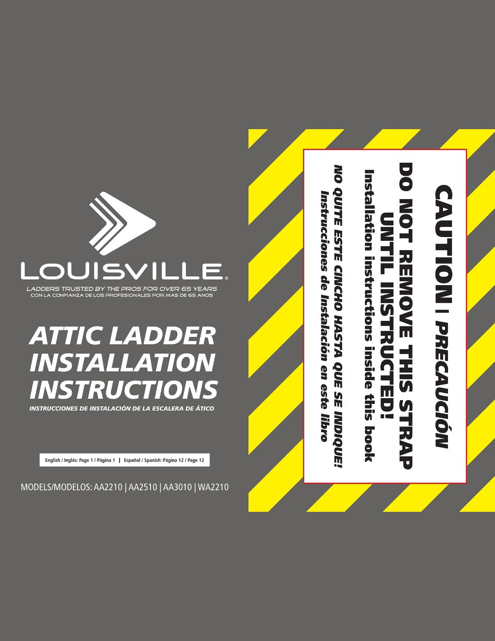 AA2210 and AA2510 Attic Ladders Installation Instructions Marketing Material Image