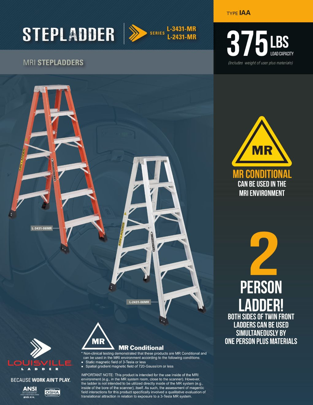 L-3431 Step Stool Ladder Flyer and Spec Sheet Marketing Material Image