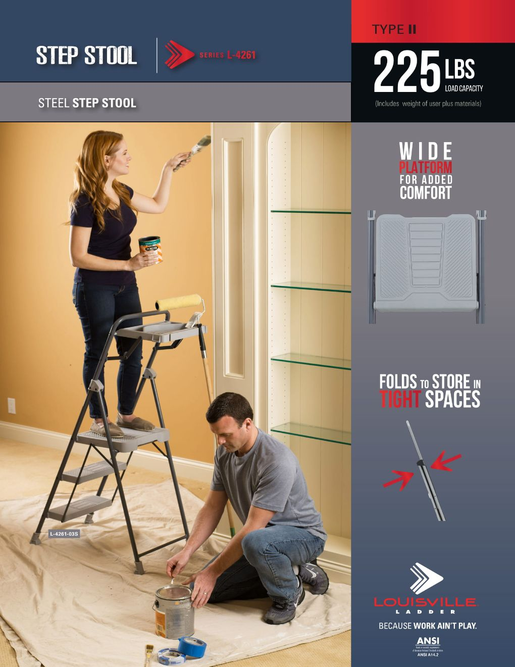 L-4261 Step Stool Ladder Flyer and Spec Sheet Marketing Material Image