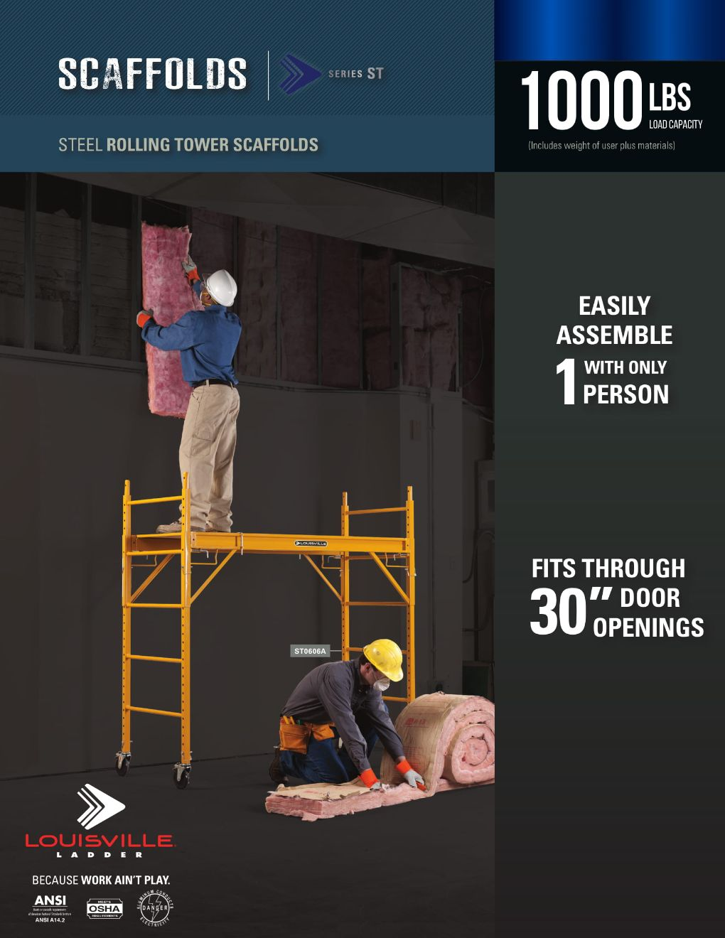 ST-Steel Rolling Tower Scaffolds Flyer and Spec Sheets Marketing Material Image