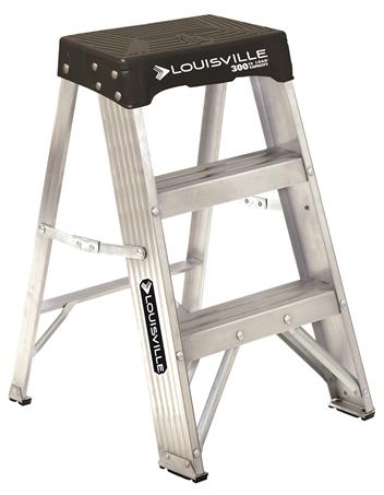 Fabulous Louisville Ladder 2 Foot Aluminum Step Stool Type Ia 300 Inzonedesignstudio Interior Chair Design Inzonedesignstudiocom